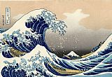 Oriental paintings - The Great Wave of Kanagawa by Katsushika Hokusai by Unknown Artist