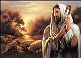 Unknown Artist The Lord is My Shepherd painting