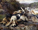 Unknown Artist The Otterhounds by John Sargent Noble painting