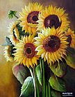 Floral paintings - The SunFlowers by Unknown Artist