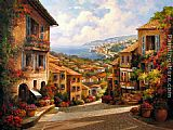 Unknown Artist Town II by Paul Guy Gantner painting