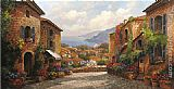 Unknown Artist Town by Paul Guy Gantner painting