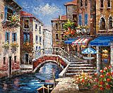 Venice paintings - V010 by Unknown Artist