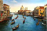 Venice paintings - Venice Grand Canal by Unknown Artist