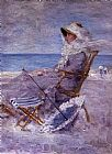 Unknown Artist Woman on the Sea Shore painting