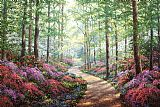 Unknown Artist Woodland Walk painting