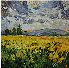 Unknown Artist Yellow Field painting