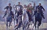 Horse Racing paintings - buzkashi.jpg by Unknown Artist