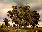Unknown Artist crola Oak Trees painting