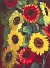 Unknown Artist emil nolde Sunflowers painting