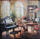 Unknown Artist musical instruments painting