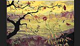avond evening red tree Paintings - paul ranson Apple Tree with Red Fruit
