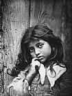 Unknown Artist portrait of a small sicilian girl of common class painting