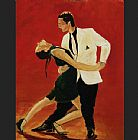 Unknown Artist tango dancers painting