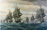 Unknown Artist the Battle of the Virginia Capes painting