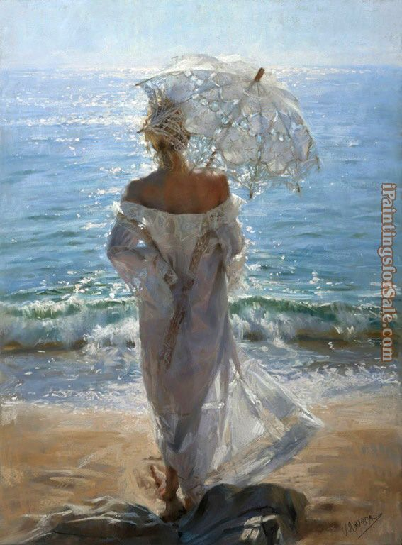 Vicente Romero Redondo walk on the beach