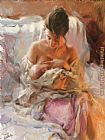 Vicente Romero Redondo young mother painting