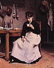 Victor Gabriel Gilbert A Cup of Coffee painting