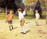 Victor Gabriel Gilbert Boys Playing painting
