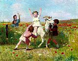 Victor Gabriel Gilbert New Tricks painting