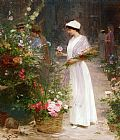 Victor Gabriel Gilbert Picking Flowers painting