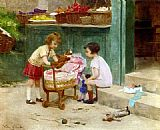 Victor Gabriel Gilbert The Favourite Teddy Bear painting