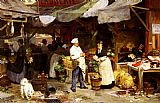 Victor Gabriel Gilbert The Maubeuge Market painting