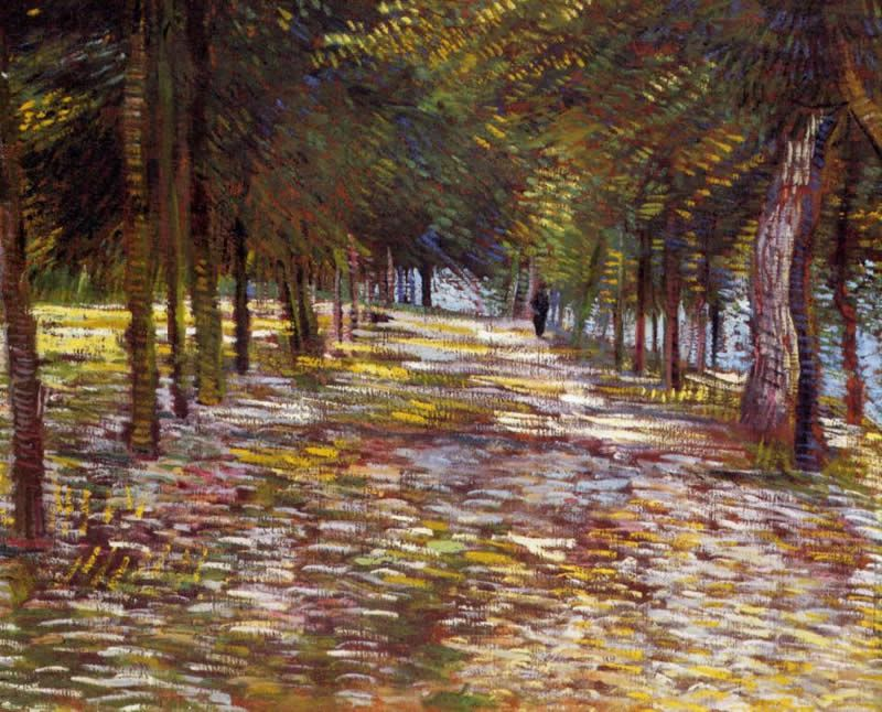 Vincent van Gogh Avenue in the Voyer d'Argenson Park at Asnieres