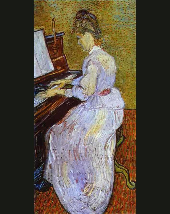 Vincent van Gogh Mademoiselle Gachet at Piano