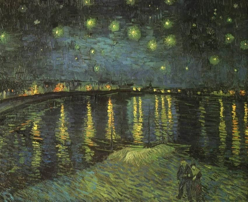 Vincent van Gogh Starry Night over the Rhone I