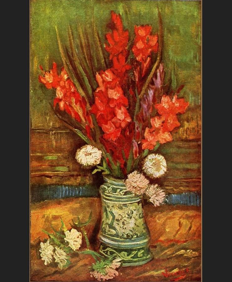 Vincent van Gogh Still Life with red gladioli