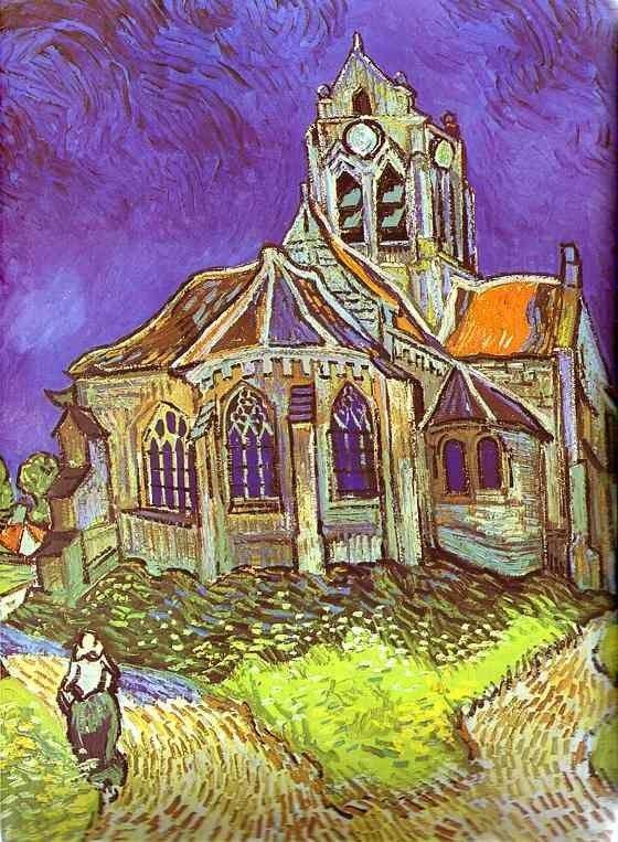 Vincent van Gogh Paintings - Vincent van Gogh The Church in Auvers ...