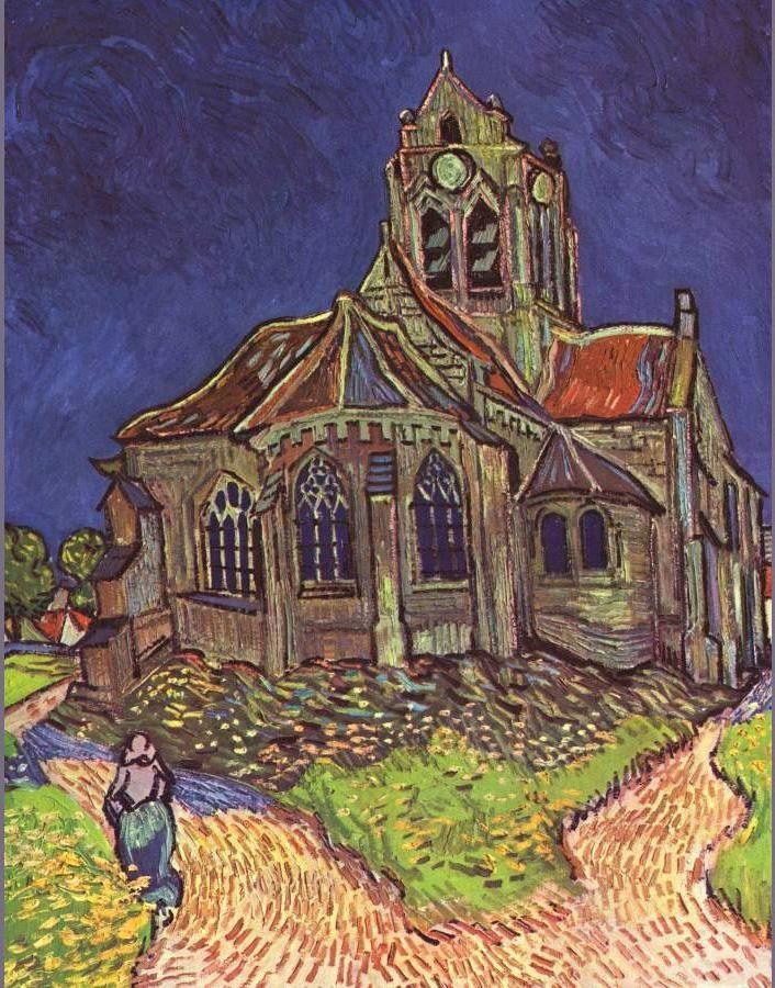 Vincent van Gogh Paintings - Vincent van Gogh The Church of Auvers ...