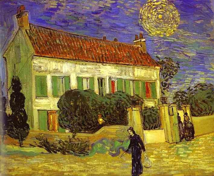 Vincent van Gogh The White House at Night La maison blanche au nuit