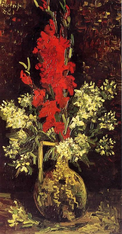 Vincent van Gogh Vase with Gladioli and Carnations