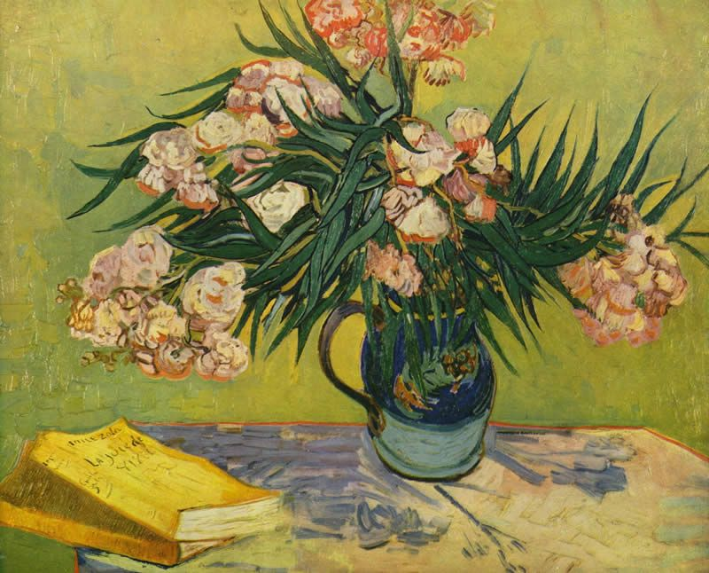Vincent van Gogh Vase with Oleanders and Books