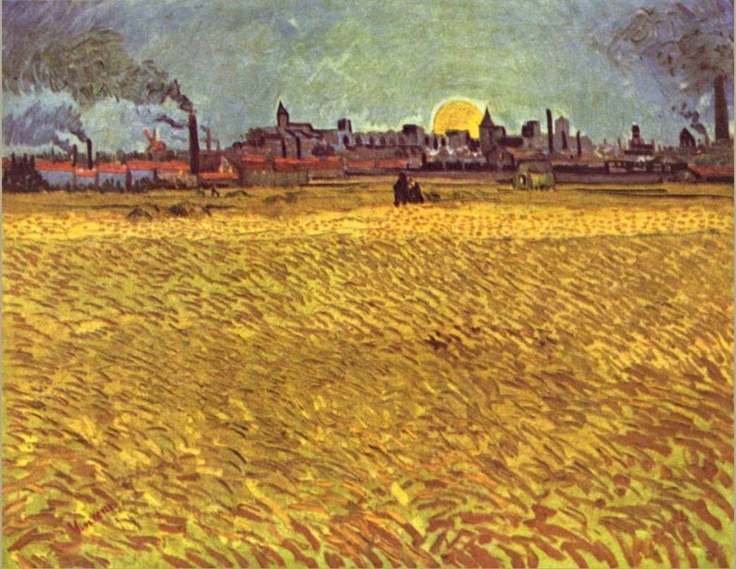 Vincent van Gogh WheatField at Sunset