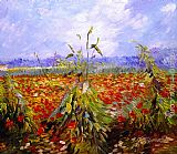Poppies paintings - A Field With Poppies by Vincent van Gogh