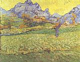 Vincent van Gogh A Meadow in the Mountains painting