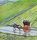 Vincent van Gogh A Road in Auvers after the Rain detail painting