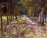 Vincent van Gogh Avenue in the Voyer d'Argenson Park at Asnieres painting