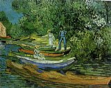 Vincent van Gogh Bank of the Oise at Auvers painting