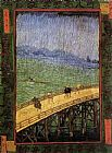 Vincent van Gogh Bridge in the Rain painting