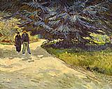 two couples Paintings - Couple in the Park,Arles