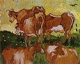 Vincent van Gogh Cows painting