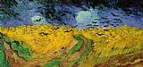 Vincent van Gogh Crows over a Wheatfield painting