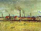 Vincent van Gogh Factories at Asnieres Seen from the Quay de Clichy painting