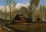 Vincent van Gogh Farmhouses among Trees painting