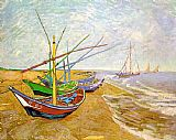 beautiful beach Framed Prints - Fishing Boats on the Beach
