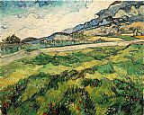 Vincent van Gogh Green Wheat Field painting